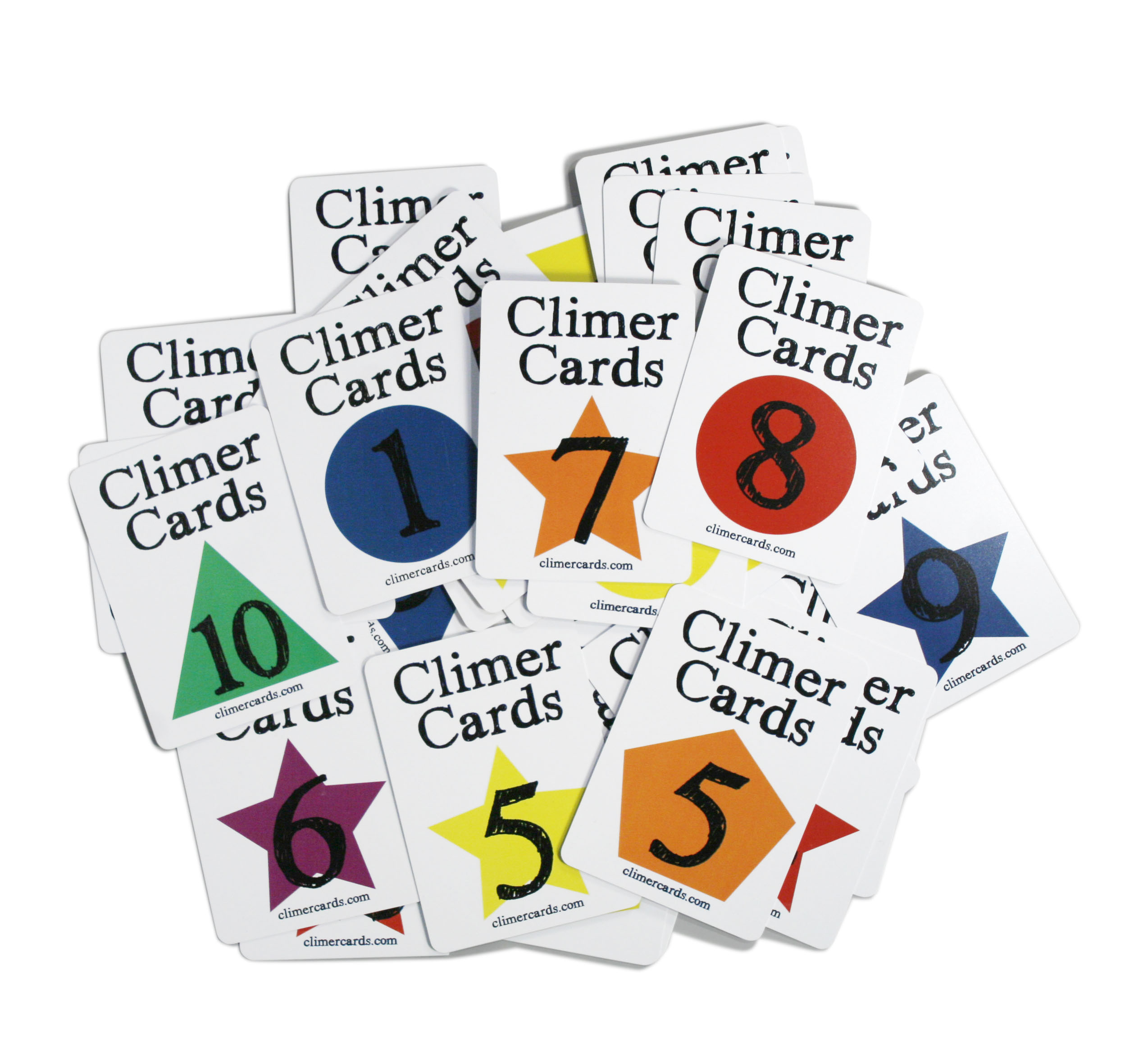 Climer Cards piled up number side